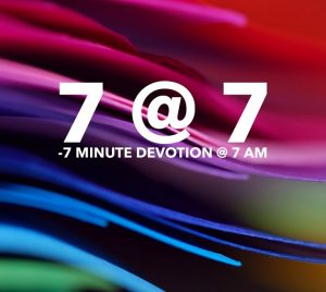 7 minute devotions at 7 am on facebook