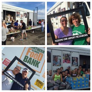 Northern Illinois Food Bank Food Truck feeds the hungry in Minooka, Illinois and surrounding communities.