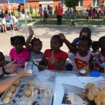 The Village Christian Church helped Ms. Pearl with a block party for her day care kids in the Roseland community of Chicago, IL