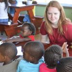 The students at The Village Christian Church in MInooka, IL volunteered in Swaziland, Africa helping orphans.