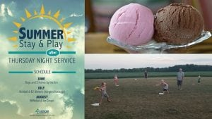 The Village Christian Church in Minooka, IL is hosting a Stay & Play Thursday night after the 6:30 pm service.