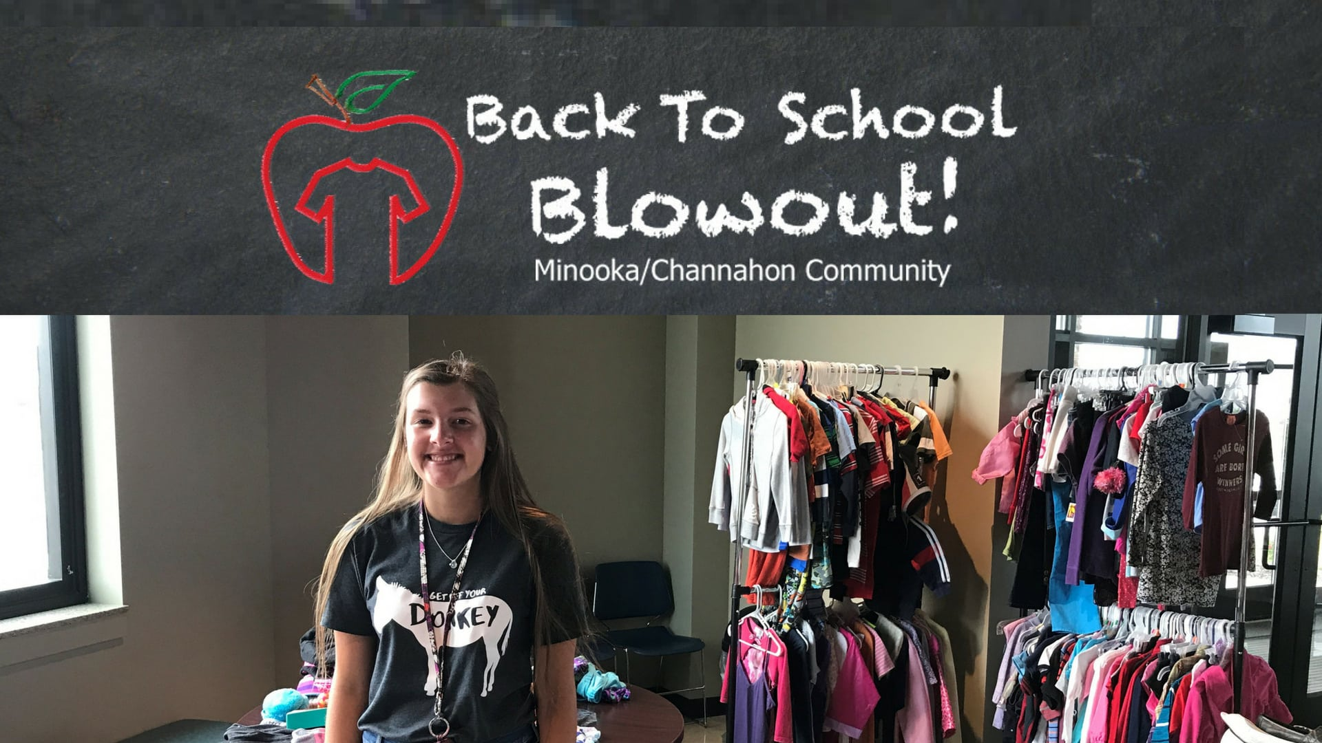 Back to School blowout provides gently used back to school clothes to families in Minooka, Channahon and surrounding communities