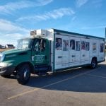 Feeding the hungry with mobile food pantries at The Village Christian Church in MInooka, IL