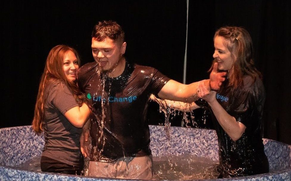 Getting baptized is making a public commitment to say YES to Jesus and a starting point for life change!