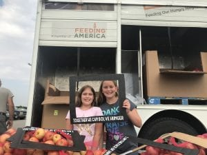 Mobile food pantry at The Village Christian Church in MInooka