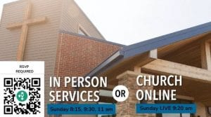 RSVP for in-person Sunday services at 8:15, 9:30 and 11 or experience The Village Live online at 9:20 am