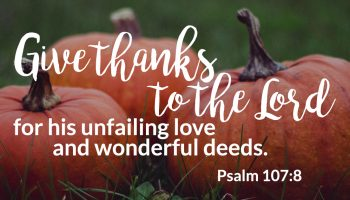 Nate Ferguson, Lead Pastor at The Village Christian Church in MInooka, IL is thankful this Thanksgiving.