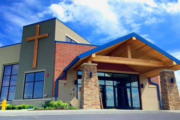 In-person church at The Village Christian Church Minooka Campus located at 8965 South Bell Road, Minooka, Illinois