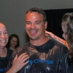 Celebrating the decision to be baptized and publicly profess a commitment to have a relationship with Jesus Christ.