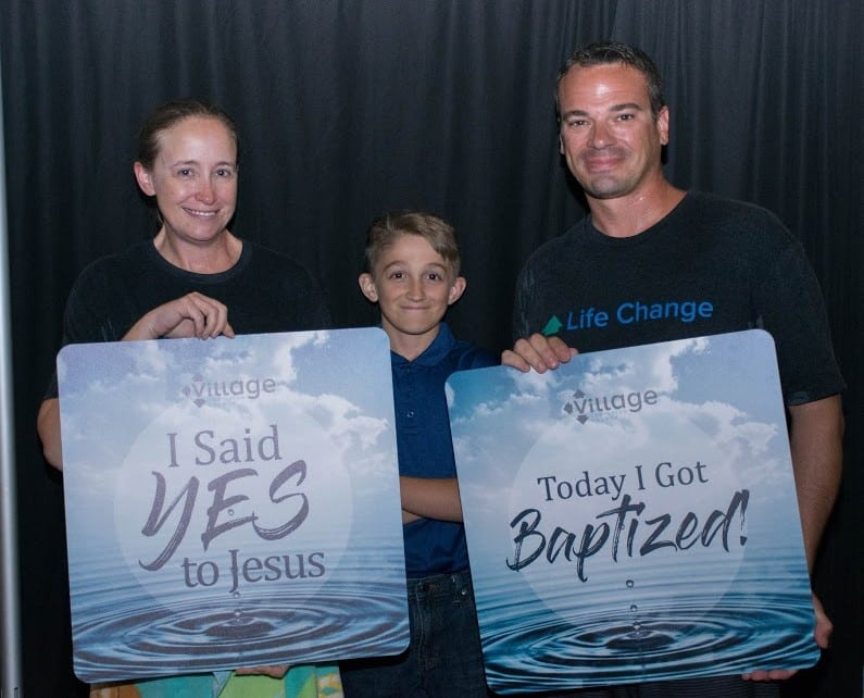 Celebrting this husband and wife who made the decision together to be baptized at The Village Christian Church in Minooka, IL