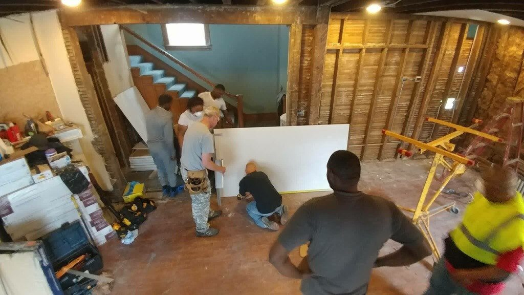 People are Brilliant as shown by the example of The Men's group at The Village Christian Church in MInooka served in the inner city of Chicago remodaling a home for a family needing help.