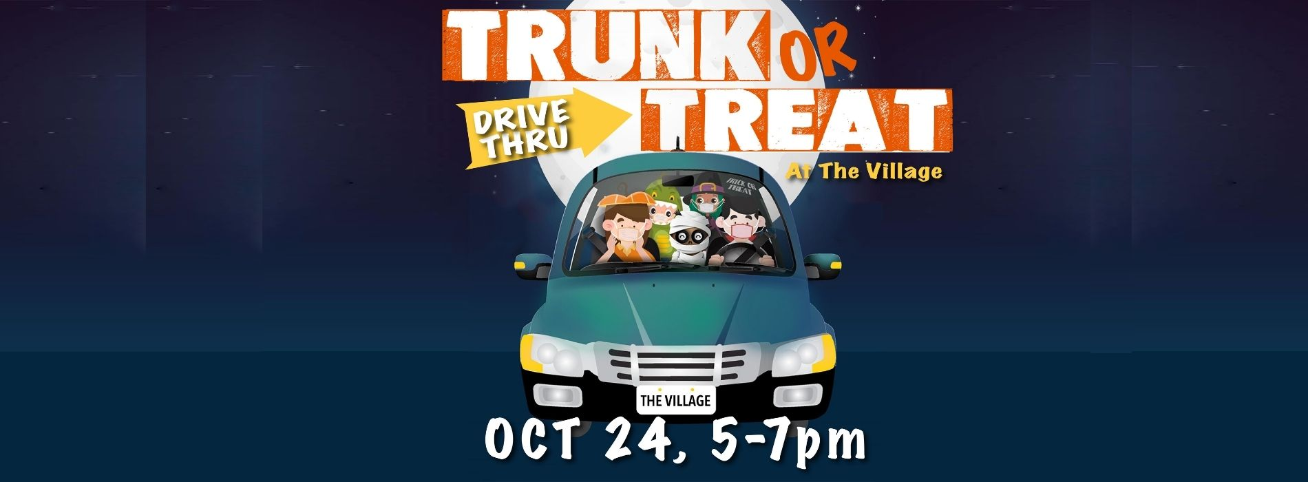 Trunk or Treat Halloween Drive-Thru At The Village Christian Church in Minooka, IL for the kids