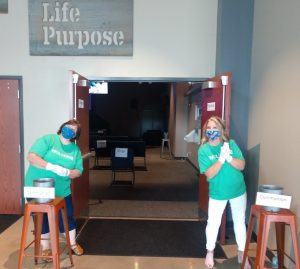 Welcome team at The Village Christian Church
